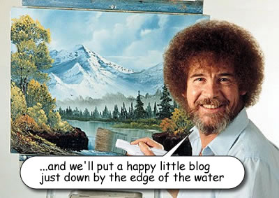 Bob Ross Painting a Blog